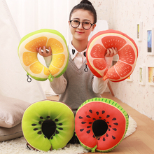 Travel Office Cushion Shaped Pillow Printed U Fruit Pattrens Neck Protection
