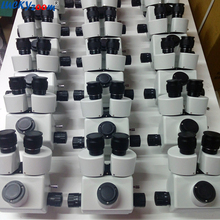 Luckyzoom Brand 3.5X-90X Simul-Focal Trinocular Zoom Stereo Microscope Head can see 3 eyepiece at the same time