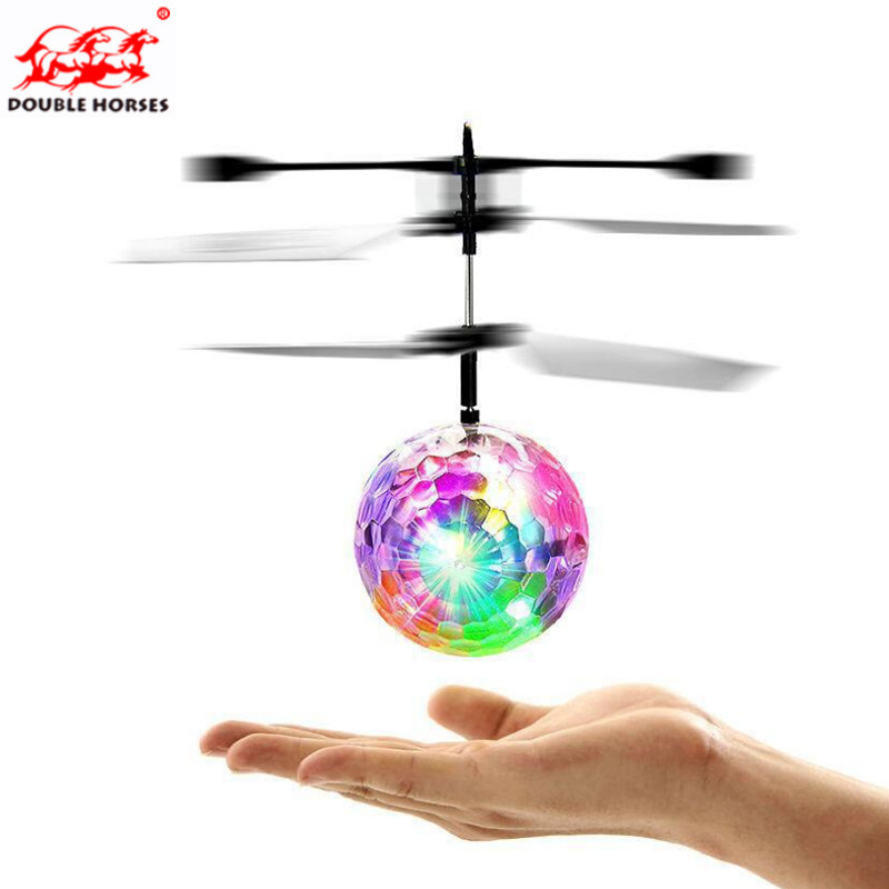 exotic crystal induction ball creative magic colorful induction ball suspended immortal ball holiday gift Childrens flight Toys
