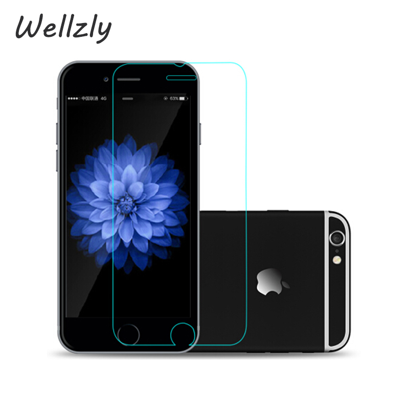 Wellzly 2.5D Tempered Glass For iPhone 6 6S X  8 ScreenProtector Glass On The For iPhone  5s 6 6Plus 7Plus Protective film B20Wellzly 2.5D Tempered Glass For iPhone 6 6S X  8 ScreenProtector Glass On The For iPhone  5s 6 6Plus 7Plus Protective film B20