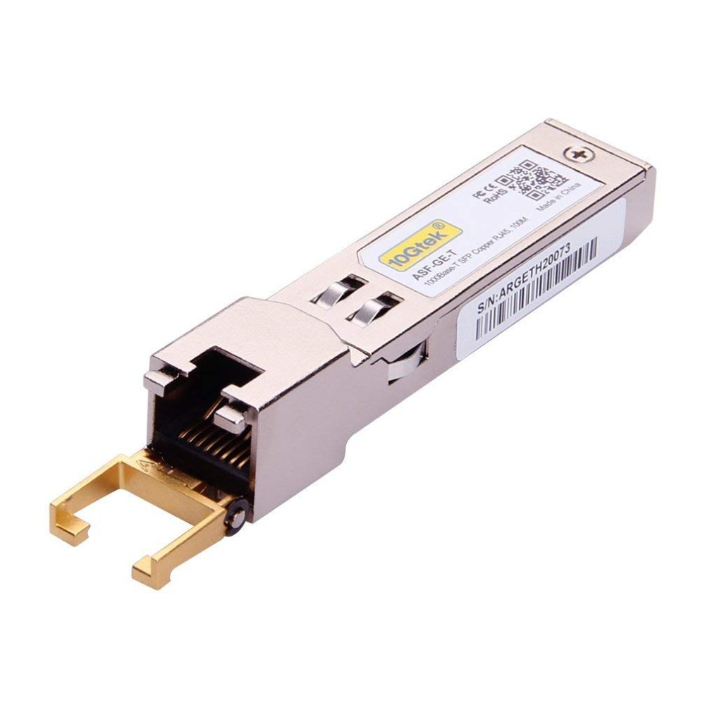 4 Adet 1.25 Gb 100 M SFP RJ45 GLC-T / SFP-GE-T 1000Base-T Gigabit - İletişim Ekipmanları - Fotoğraf 3