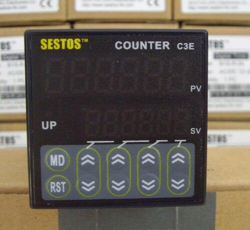 Sestos промышленный 6 предустановленных цифровых Весы счетчик переключатель 100-240 В ce c3e