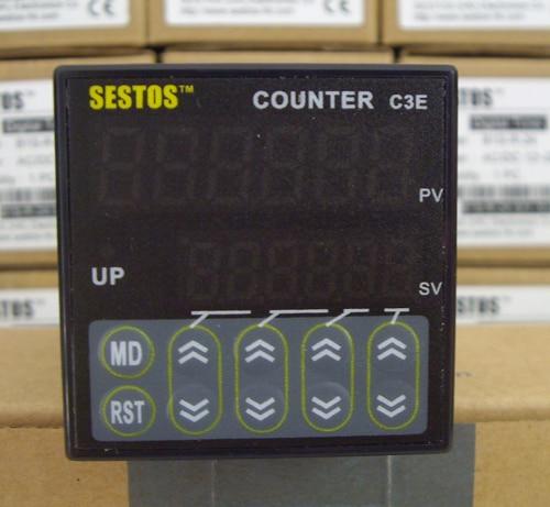 Sestos Industial 6 numérique préréglage échelle compteur Tact commutateur 100-240 V CE C3E