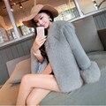 Free Shipping Plus Size 2016 Women New Hot Fashion Winter Faux Fur Coat High Quality Rabbit Fur Coats Fur Jackets Slim Short Fur