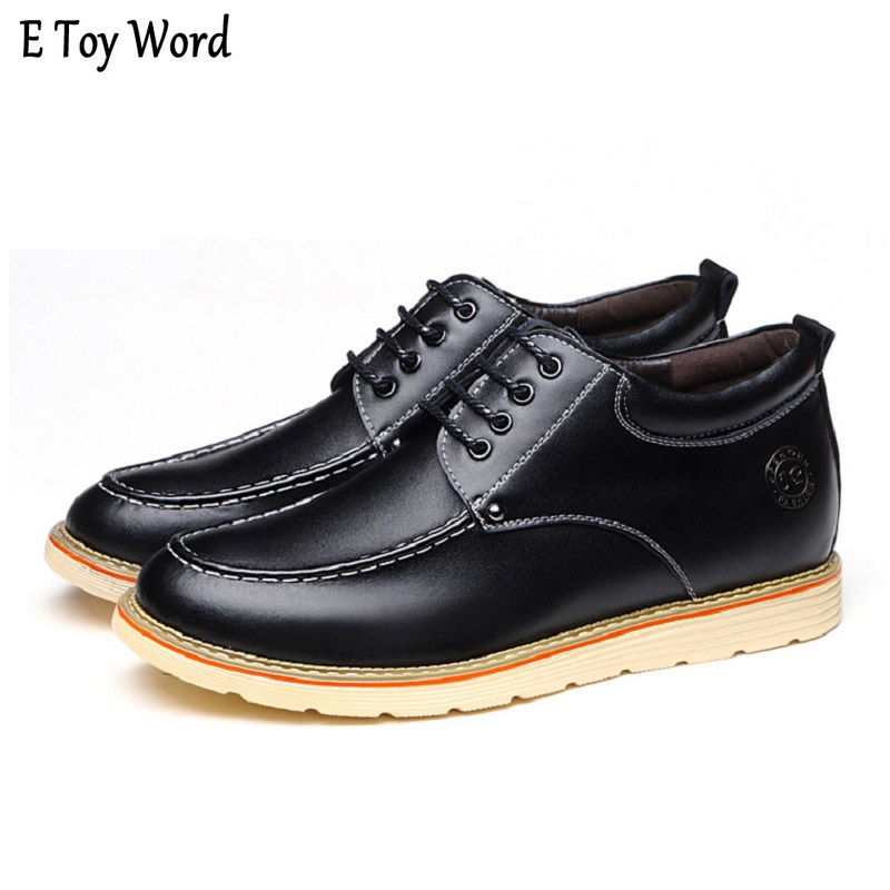 New Unisex Casual Shoe Air Breathable Casual Fashion Height Increase Elevating Leather Shoes for Man Walk Taller 6CM Mens shoes