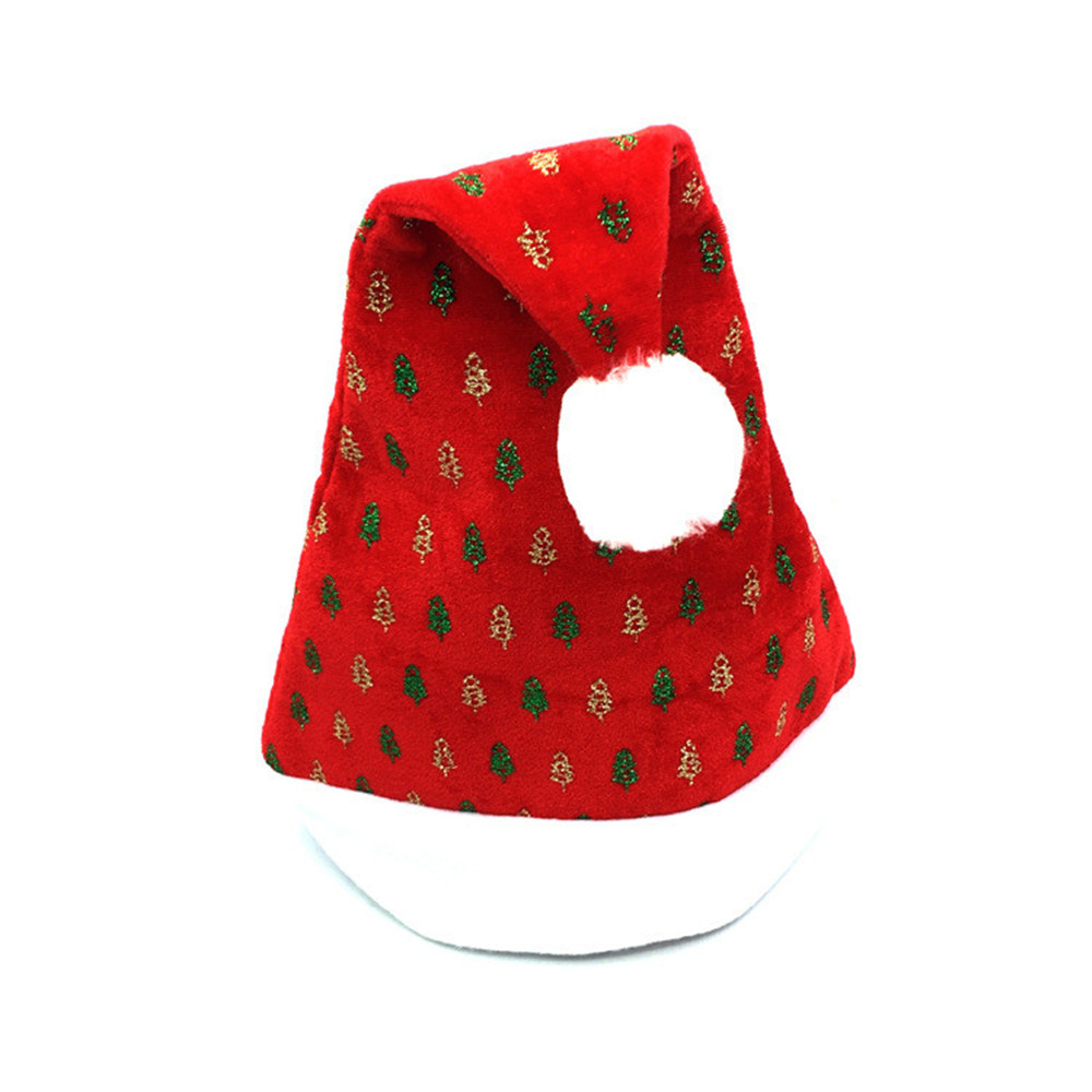 Christmas Caps Christmas Party Santa Hat Red And Blue Cap Thick Ultra Soft Plush Santa Claus Holidays for Santa Claus Customer inflatable cartoon customized advertising giant christmas inflatable santa claus for christmas outdoor decoration