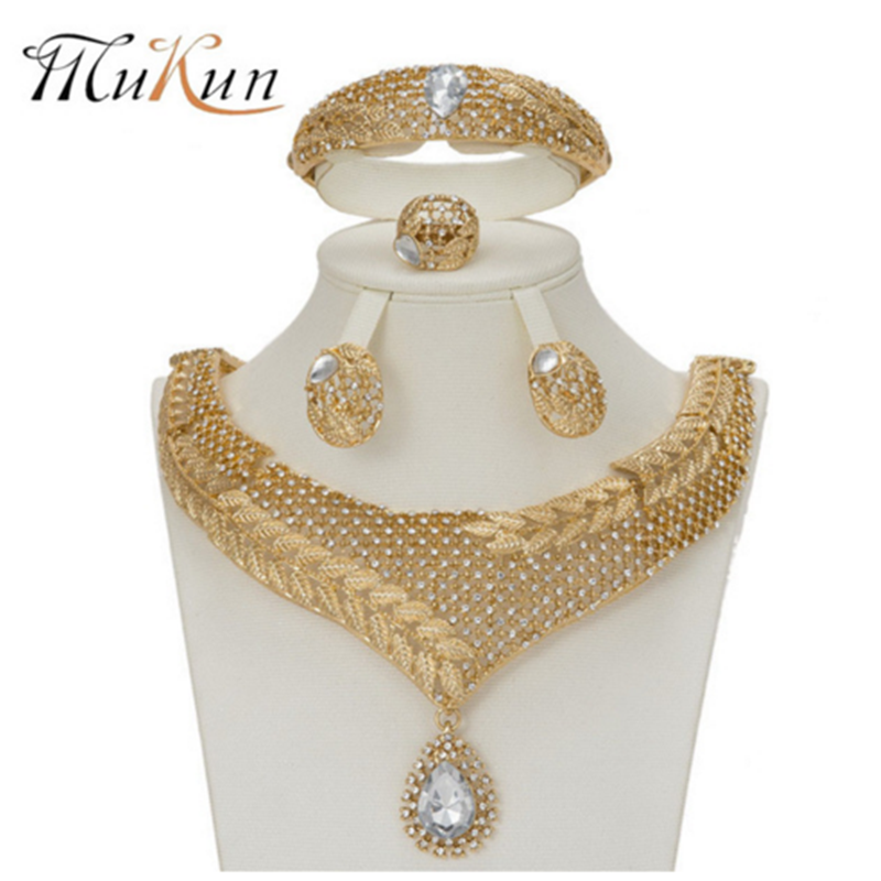 d31340ebce3a7d MuKun nigerian African jewelry set wedding jewelry sets for brides crystal  dubai gold jewellery sets for