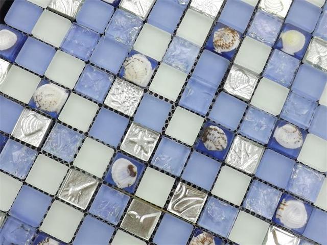Luce di colore blu mosaico delle coperture del mare piastrelle di