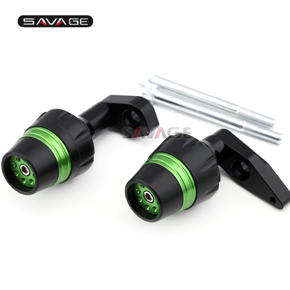 Frame Sliders Crash Protector For KAWASAKI ER6N ER-6N 2012-2016 13 14 15 Motorcycle Accessories Bobbins Falling Protection frame slider motorcycle frame crash pads engine case sliders protector for kawasaki er 6n er6n er 6n 2012 2013 2014 2015 2016