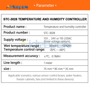 Image 5 - STC 3028 Intelligent Digital Display Temperature Humidity Controller Display Thermometer Hygrometer For Fridge Home Industry