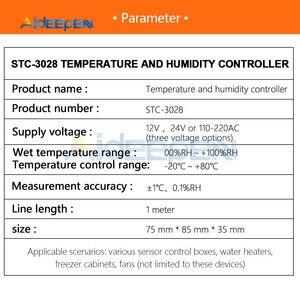 Image 5 - STC 3028 lED المزدوج ترموستات رقمي درجة الحرارة الرطوبة ميزان الحرارة التبريد التدفئة التبديل ترموستات NTC الاستشعار
