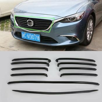 IMITATION CARBON FIBER grill frame cover For MAZDA 6 2017 Car Protective