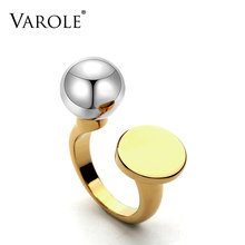 VAROLE Fashion Ball & Cirkel Ring Knunkle Midi Ringen voor Vrouwen Engagement Ring Sieraden Bagues Anillos Mujer Anéis Feminino(China)