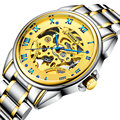 Men Automatic Watch Real 100M Shockproof Waterproof Watch Balloon Blue Bleu Dial Yellow Gold Face Luxury Cool Watches
