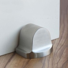 304 Stainless Steel Casting Powerful Floor-mounted Magnetic Door Stopper Stop Doorstop satin nickel brushed CP474