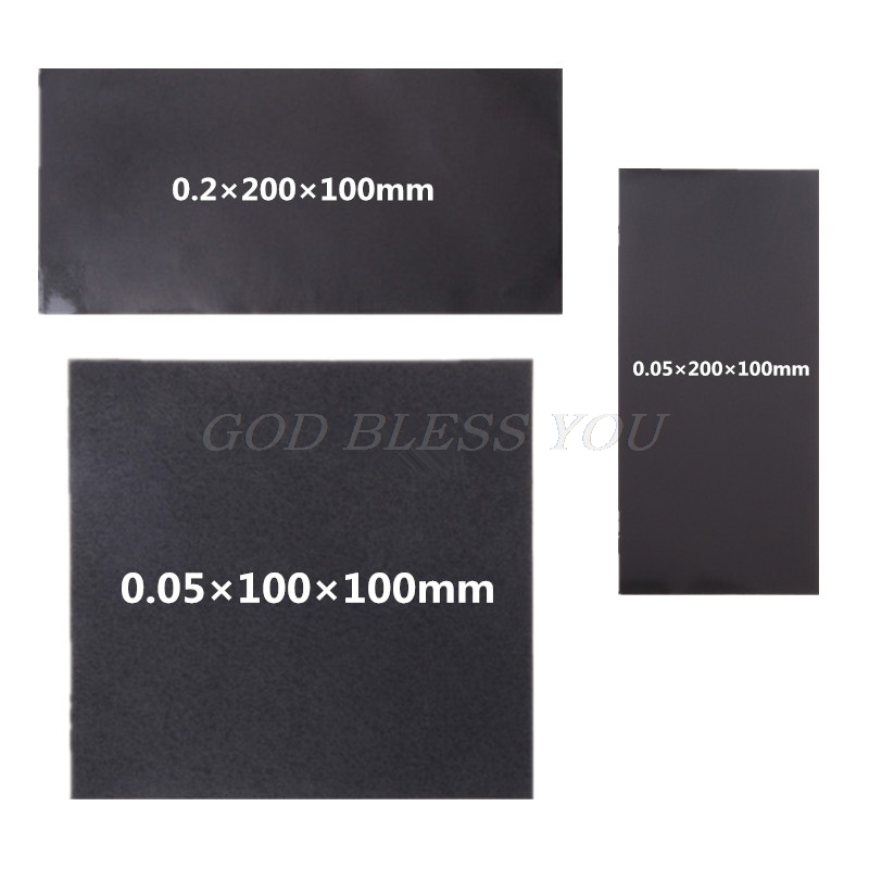 Black High Conductivity Silicone Thermal Pad Heatsink CPU Cooling Pads Synthetic Graphite Cooling Film Paste 100mm/200mm*100mm