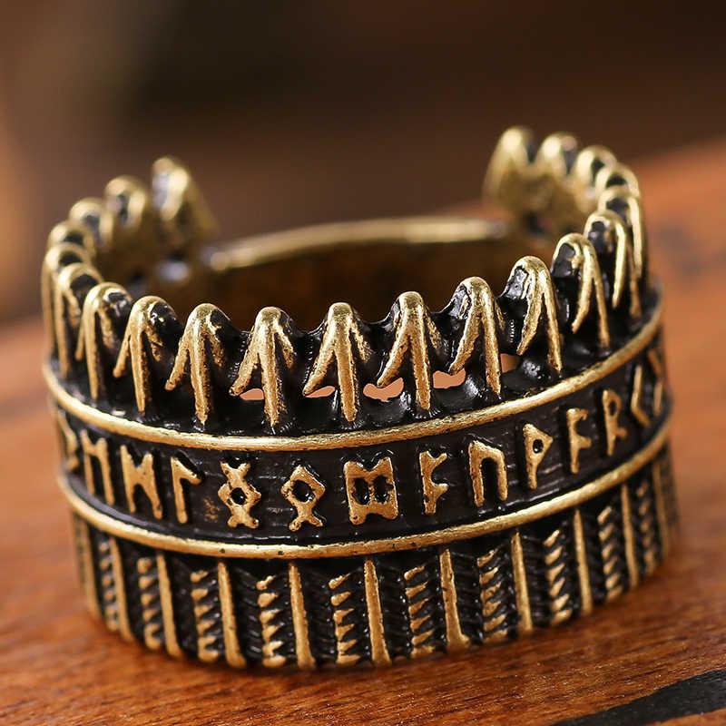 גברים של סלאבית טבעת רטרו סגנון Futhark ויקינג תכשיטי זרוק משלוח 1 PC