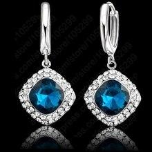 JEXXI Women Fashion Crystal Earrings New Arrival Brand 925 Sterling Silver Earring For Women Girls