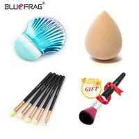 Купить 3 получить 1 подарок bluefrag составляют щетки пудра для губ глаз shadowand подарок Blending Brush Для косметический салон инструменты