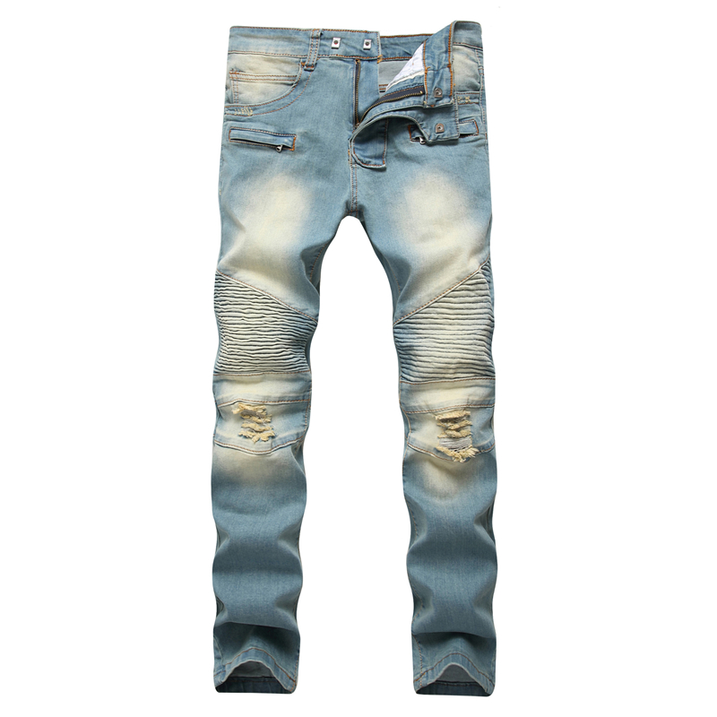 Gersri Men Jeans Pants Cotton High Quality Skinny Biker Jeans Homme Straight Male New Arrival Fashion Denim Pants Joggers Jean