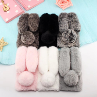 New For Oneplus 5 Case 3D Fluffy Rabbit Back Cover Shape Warm Fur Soft TPU Case