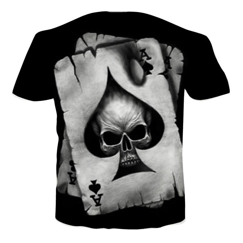 3D T Shirt Men Poker Skull Printed Punisher T-shirts 2017 Summer New Fashion Casual Short Sleeve Tops Tee 3d Clothing Dropship