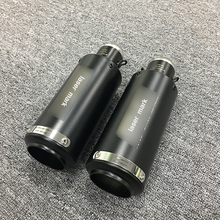 51mm Motorcycle Exhaust Muffler Tip Pipe Modified Right and Left Tail Stainless Steel Silencer System недорого