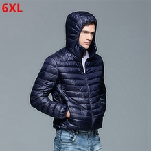 Autumn and winter new men's large size Lightweight down jacket