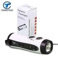 GREEN Multifunctional LED Dynamo Flashlight Emergency Alarm flashlights Radio/Mobile Charging
