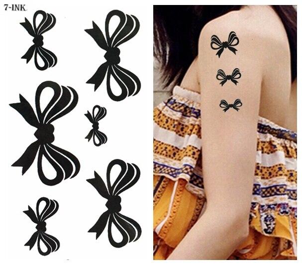 grande remise grand Prix plutôt cool € 0.4 12% de réduction Transfert d'eau faux tatouage mignon papillon noeud  tatoo étanche temporaire flash tatouage pour fille femmes 10.5*6 cm-in ...