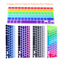 "Rainbow Clavier French AZERTY Keyboard Cover Skin Film For Macbook Pro 13"" 15"" 17"" A1278 A1286 A1398 for Mac book Air 13 Film"