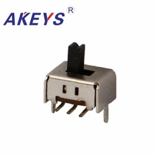 100PCS SS-22D10 2P2T Double pole double throw 2 position slide switch 8 pin verticle type bend pin with 2 fixed pin 100pcs 6p 6 position dip switch 2 54mm pitch 2 row 12 pin