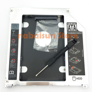 Eunaimee 9.5 mm Aluminum HDD Caddy SATA 3.0 2nd 9.5mm SSD Case drive a solid caddy for Macbook Pro 13
