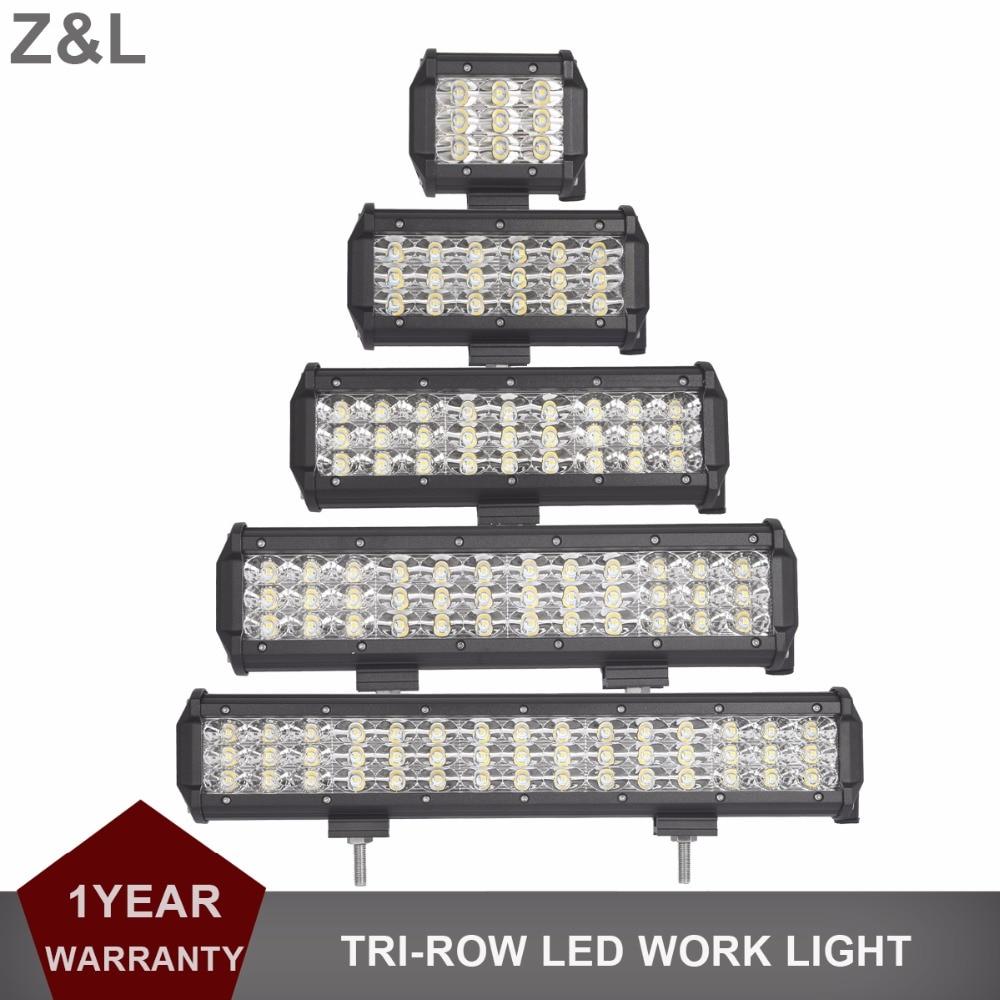 Offroad 4 6 9 12 15 pulgadas LED barra de luz de trabajo Auto DRL de inundación Spot Combo faro 12 V 24 V camión ATV RZR camioneta 4x4 4WD LED de niebla
