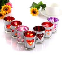 Glass Votive Tealight Candle Holders Wedding Candlestick Love Heart Dinner Home Decor Christmas 5 5x8 8cm