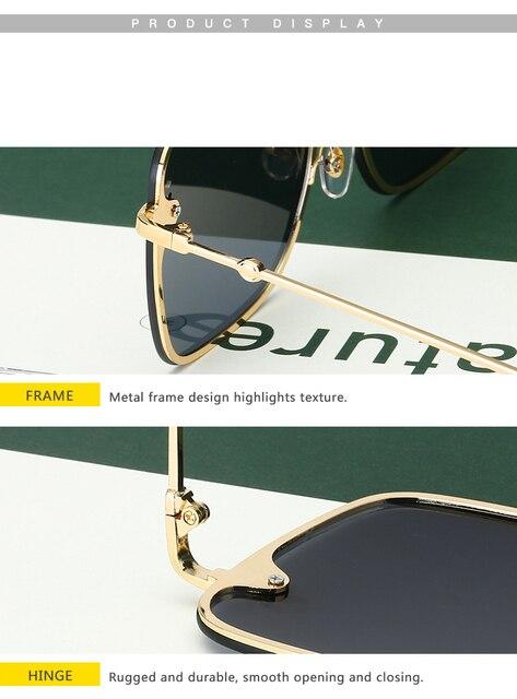 Gafas de sol cuadradas de abeja sin montura para mujer y hombre, anteojos de sol femeninos de gran tamaño con gradiente de abeja, con UV400, 2021 6