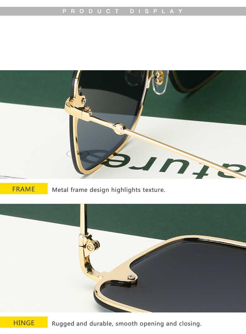 2020ใหม่แฟชั่นLady Oversize Rimlessสแควร์Beeแว่นตากันแดดผู้หญิงผู้ชายผึ้งขนาดเล็กแว่นตาSunแว่นตาหญิงUV400