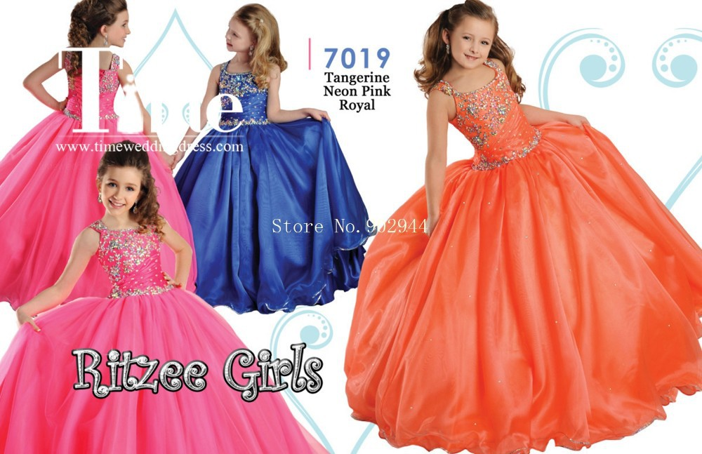 ac644c89d 2015 neon pink flower girl dresses royal blue scoop girls pageant ...