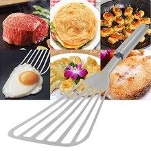 Утолщенная полированная форма вентилятора жареная рыба Лопата косой яйцо стейк печенье Лопата металлическая кулинарная лопатка кухонная утварь гаджеты