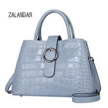 Genuine leather bag female ladies handbags  women famous brands tote bag women messenger bags bolsos mujer shoulder bagsZALANDAR