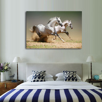 Horses Running Printed Oil Painting On Canvas Wall Art Animals Posters Prints Picture For Living Room