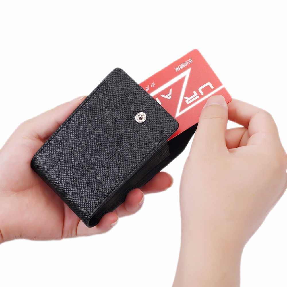 Fashion Unisex  Business ID Credit Card Wallet Holder Name Cards Case Pocket Organizer 9 Card Slots+2 Multi-functional Position