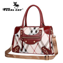 FERAL CAT clutchbolsas feminina Sac a Messenger Bags Women Leather Handbags for  Main Ladies Hand Bag bolso mujer