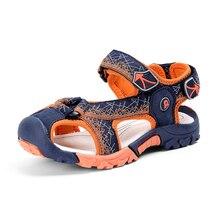 Мод мальчиков сандалии Hook & Loop детская пляжная обувь без каблука малыша обувь Гладиатор анти-скользкие Детская летняя обувь смешанные цвет