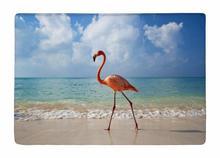 Floor Mat Beautiful Tropical Flamingo bird Beach Print Non-slip Rugs Carpets alfombra For Indoor Outdoor living kids room
