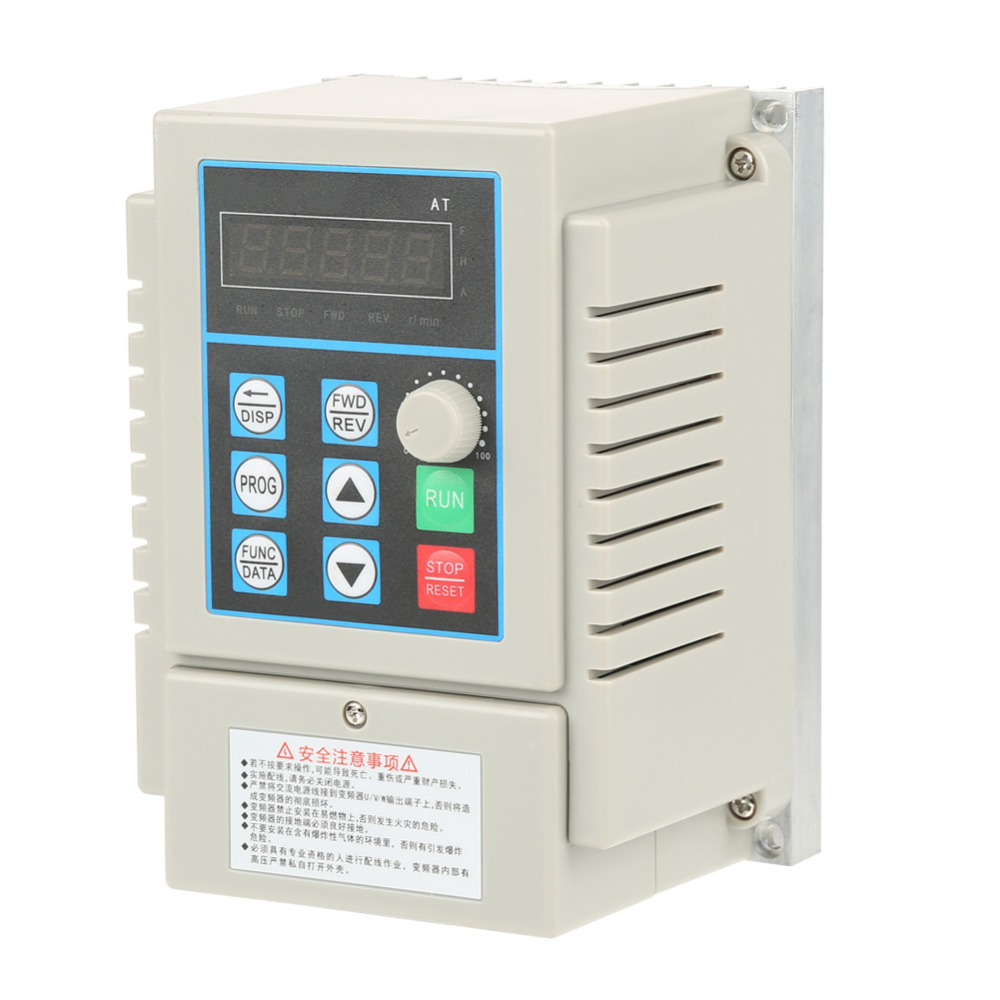 0.45kW Variable Frequency Drive AC 220V Variable Speed Drive Frequency Inverte VFD Inverter Single Phrase PWM Control baileigh wl 1840vs heavy duty variable speed wood turning lathe single phase 220v 0 to 3200 rpm inverter driven