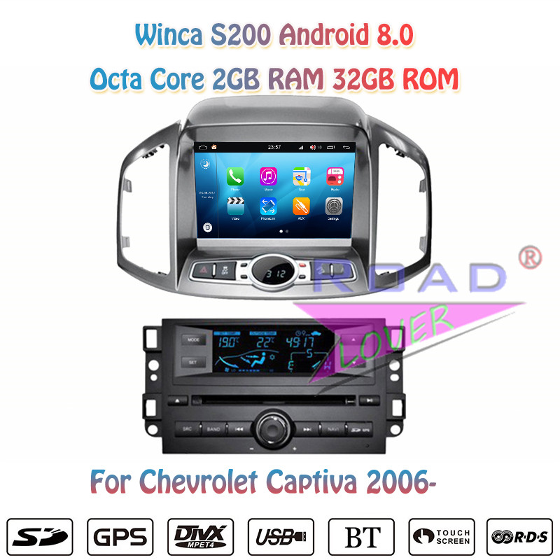 Winca S200 Android 8.0 Car Multimedia DVD Player Radio For Chevrolet Captiva 2011 Stereo GPS Navigation Automagnitol 2 Din Video