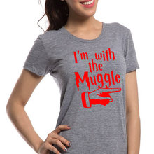 New Funny Casual Harry Potter Print Tops Loose Short Sleeve Letter Women T Shirt
