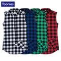 Toonies moda hip hop sin mangas de camisa a cuadros hombres de la calle de ocio homme camisas tops brand clothing summer top 2017 s-2xl