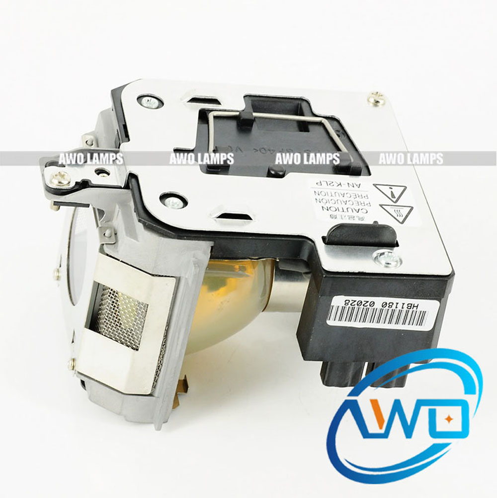 AWO High Quality AN-MB70LP Replacement Projector Lamp with housing for SHARP XG-MB70X projectors 180 day Warranty awo high quality projector replacement lamp sp lamp 088 with housing for infocus in3138hd projector free shipping